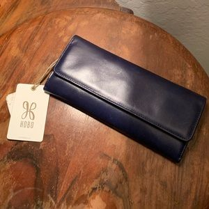 HOBO Bags - HOBO deep blue leather clutch